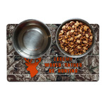 Hunting Camo Dog Food Mat (Personalized)