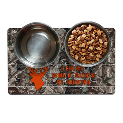 Hunting Camo Pet Bowl Mat (Personalized)