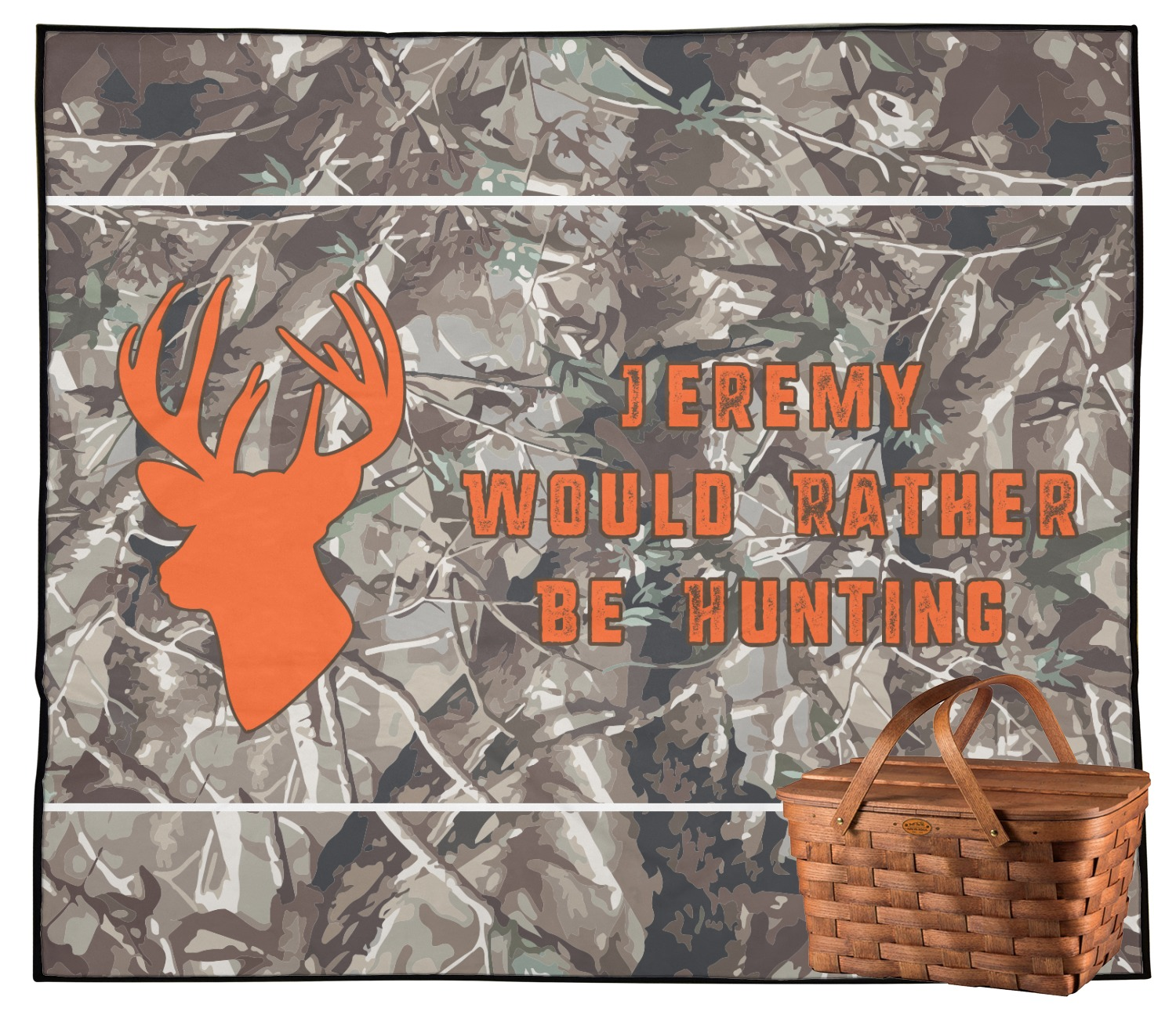Hunting Camo Outdoor Picnic Blanket (Personalized
