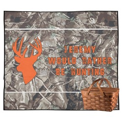 Hunting Camo Outdoor Picnic Blanket (Personalized)
