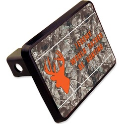 """Hunting Camo Rectangular Trailer Hitch Cover - 2"""" (Personalized)"""