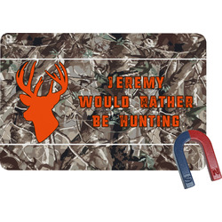 Hunting Camo Rectangular Fridge Magnet (Personalized)