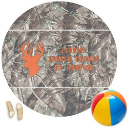 Hunting Camo Round Beach Towel (Personalized)