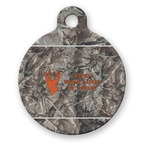 Hunting Camo Round Pet Tag (Personalized)
