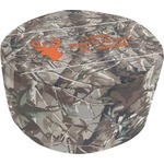 Hunting Camo Round Pouf Ottoman (Personalized)