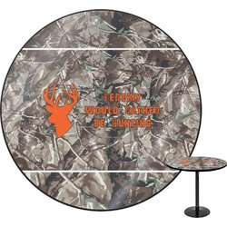 Hunting Camo Round Table (Personalized)
