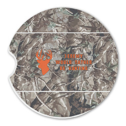 Hunting Camo Sandstone Car Coasters (Personalized)