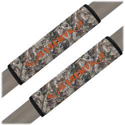Hunting Camo Seat Belt Covers (Set of 2) (Personalized)