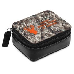 Hunting Camo Small Leatherette Travel Pill Case (Personalized)