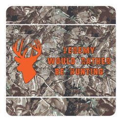 Hunting Camo Square Decal (Personalized)