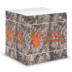 Hunting Camo Sticky Note Cube (Personalized)