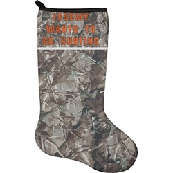 Hunting Camo Holiday Stocking - Neoprene (Personalized)
