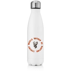 Hunting Camo Tapered Water Bottle - 17 oz. - Stainless Steel (Personalized)
