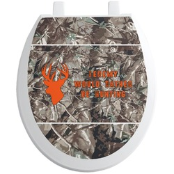 Hunting Camo Toilet Seat Decal - Round (Personalized)