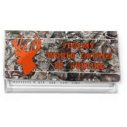 Hunting Camo Vinyl Checkbook Cover (Personalized)