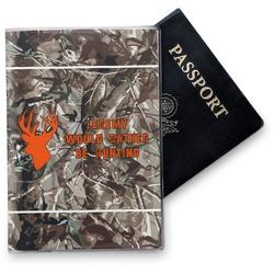 Hunting Camo Vinyl Passport Holder (Personalized)