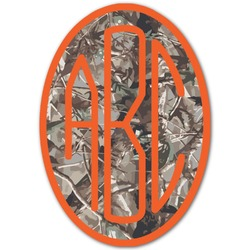 Hunting Camo Monogram Decal - Small (Personalized)
