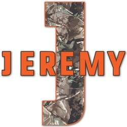 """Hunting Camo Name & Initial Decal - Up to 18""""x18"""" (Personalized)"""