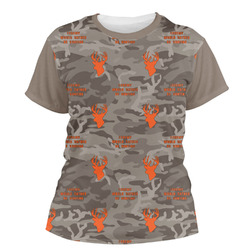 Hunting Camo Women's Crew T-Shirt (Personalized)