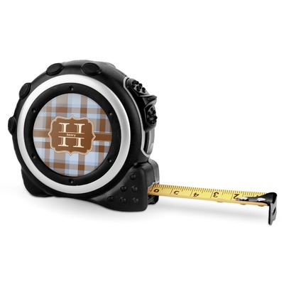 Two Color Plaid Tape Measure - 16 Ft (Personalized)