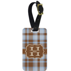 Two Color Plaid Aluminum Luggage Tag (Personalized)