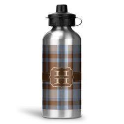 Two Color Plaid Water Bottle - Aluminum - 20 oz (Personalized)