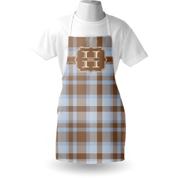 Two Color Plaid Apron (Personalized)