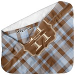 Two Color Plaid Baby Hooded Towel (Personalized)