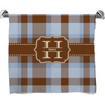 Two Color Plaid Full Print Bath Towel (Personalized)