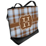 Two Color Plaid Beach Tote Bag (Personalized)