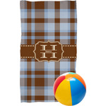 Two Color Plaid Beach Towel (Personalized)