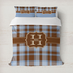 Two Color Plaid Duvet Covers (Personalized)