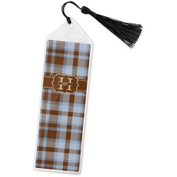 Two Color Plaid Book Mark w/Tassel (Personalized)