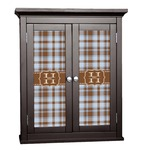 Two Color Plaid Cabinet Decal - Custom Size (Personalized)