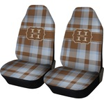 Two Color Plaid Car Seat Covers (Set of Two) (Personalized)