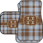 Two Color Plaid Car Floor Mats (Personalized)