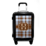 Two Color Plaid Carry On Hard Shell Suitcase (Personalized)