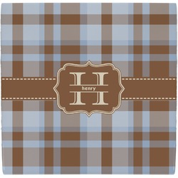 Two Color Plaid Ceramic Tile Hot Pad (Personalized)