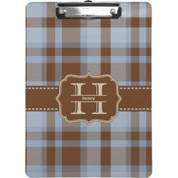 Two Color Plaid Clipboard (Personalized)