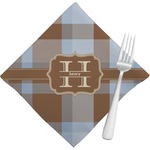 Two Color Plaid Napkins (Set of 4) (Personalized)