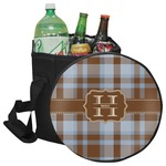 Two Color Plaid Collapsible Cooler & Seat (Personalized)
