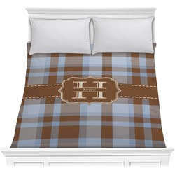 Two Color Plaid Comforter (Personalized)