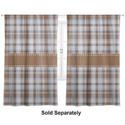 "Two Color Plaid Curtains - 56""x80"" Panels - Lined (2 Panels Per Set) (Personalized)"