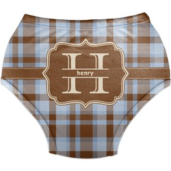 Two Color Plaid Diaper Cover (Personalized)