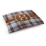 Two Color Plaid Dog Pillow Bed (Personalized)