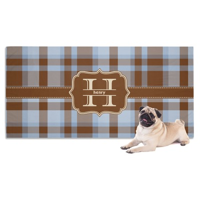 Two Color Plaid Dog Towel (Personalized)