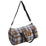 Two Color Plaid Duffel Bag (Personalized)