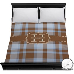 Two Color Plaid Duvet Cover (Personalized)