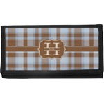 Two Color Plaid Canvas Checkbook Cover (Personalized)