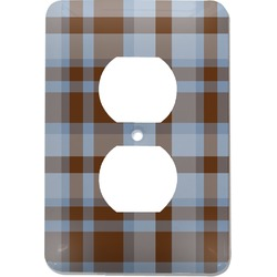 Two Color Plaid Electric Outlet Plate (Personalized)